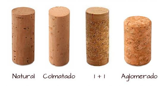 Tipos de corcho en el vino Terravino